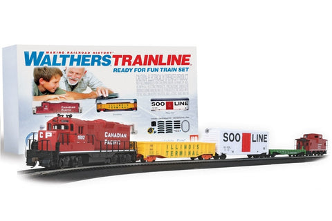 Walthers Trainline HO Canadian Pacific Ready for Fun Train Set 931-872