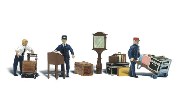 N Woodland Scenics Depot Workers and Accessories A2211