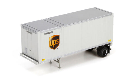 HO Athearn UPS 28' Container with Chassis #29431
