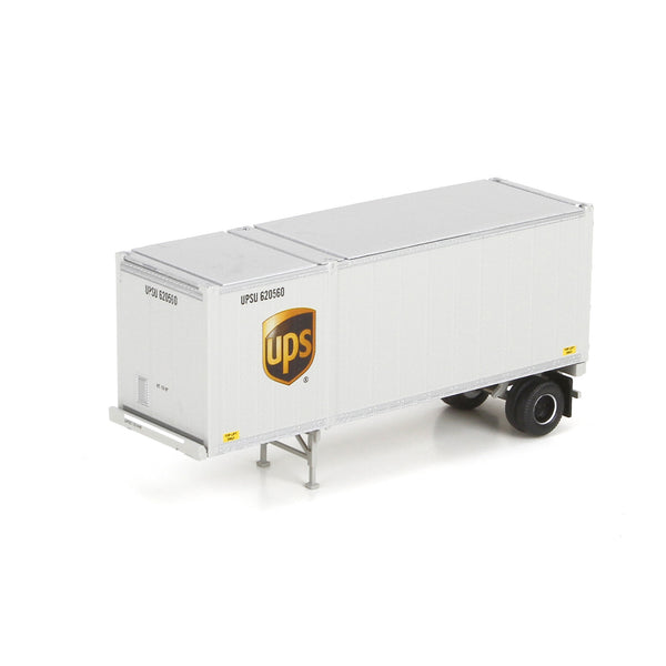 Athearn HO RTR UPS United Parcel Service 28' Container #UPSU 620560 w/ Chassis
