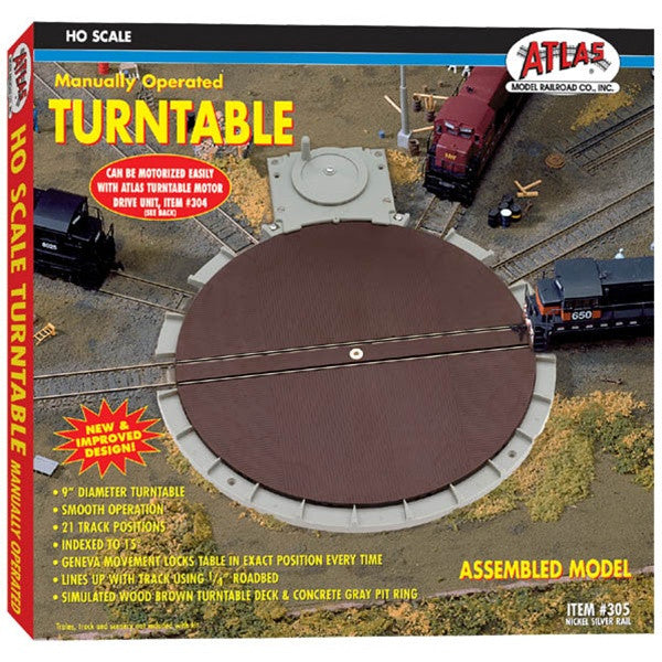 HO Atlas Manually Operated Turntable #305