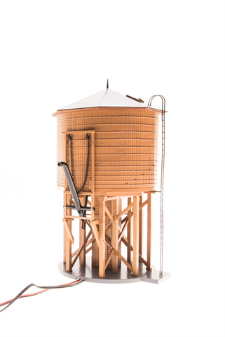 O Operating Water Tower w/Sound, Weathered Brown