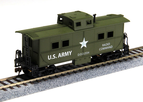 Model Power HO Mantua Classics US Army 36' Steel Caboose #726004