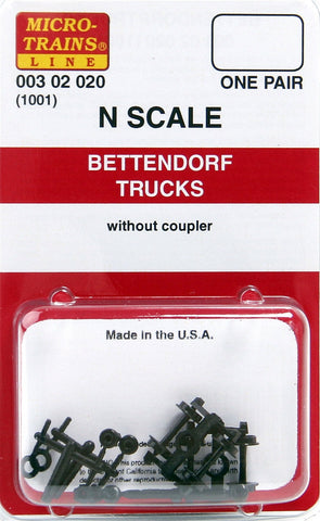 Micro-Trains N Scale Bettendorf Trucks (without Couplers) #1001