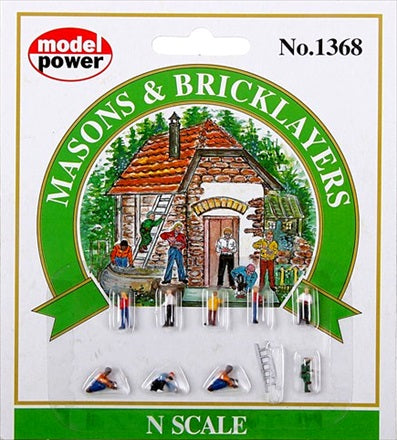 N Model Power Masons & Bricklayers No. 1368