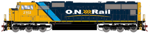 HO Athearn Ontario Northland SD75I Disel Locomotive with DCC & Sound #2104