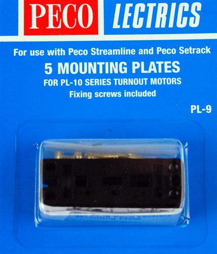 Peco HO 5 Mounting Plates PL-9