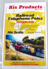 HO Rix Products Railroad Telephone Poles (Crossarms Only) 628-0031