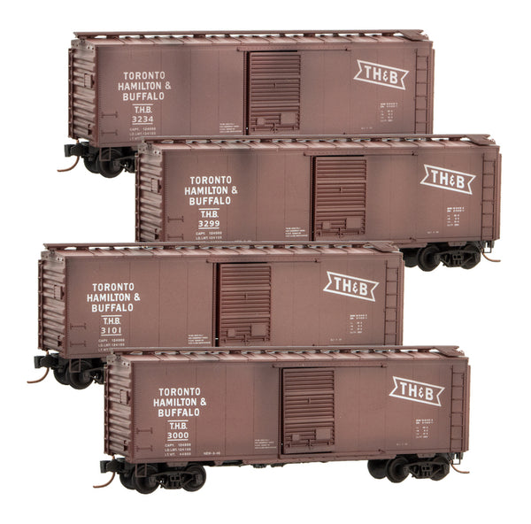 PWRS Exclusive Micro-Trains Toronto Hamilton & Buffalo (TH&B) 40' Sngl Dr Standard Box Car