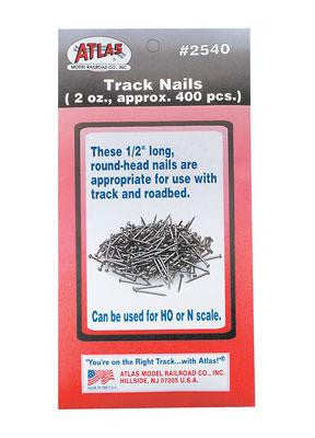 "Atlas HO Code 100 Snap-Track 1/2"" Track Nails #2540"