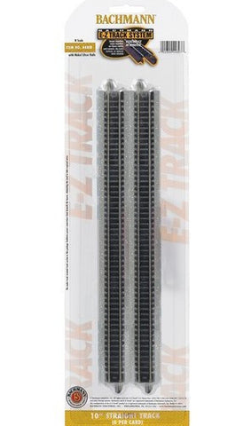 "N Scale Bachmann E-Z Track 10"" Straight Track #44815"