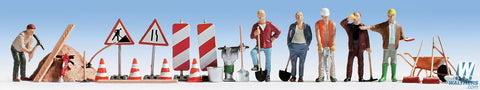 SceneMaster HO Construction Workers pkg(6)