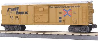 M.T.H Rail King Rail Box Die-Cast Box Car 30-8404