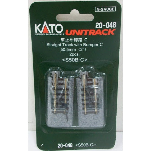 "Kato N Scale 2"" Straight Track with Bumper C #20-048"