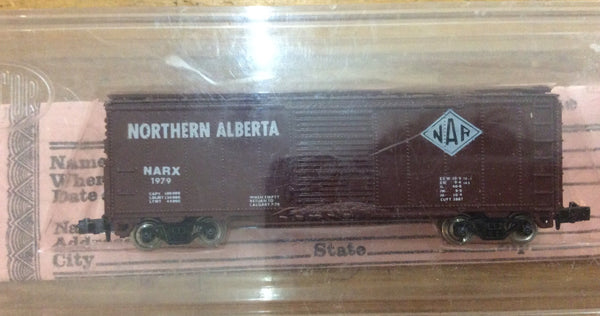 Con-Cor N Northern Alberta 40' Steel Box Car