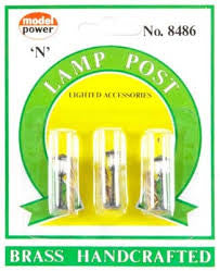 N Model Power Lighted Lamp Posts 8486
