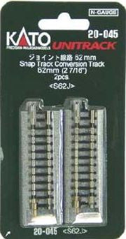 "Kato N Scale 2 7/16"" Snap Track Conversion Track #20-045"