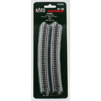 "Kato N Scale R28 1/4"" 15 Degree Curved Track #20-150"
