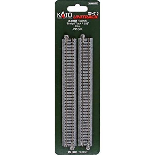 "Kato N Scale 7 5/16"" Straight Track #20-010"