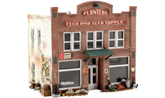 HO Woodland Scenics Pre-Fab Building Kit Planters Feed and Seed Supply #PF5181
