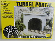 Woodland Scenics Concrete Double Tunnel Portal C1256