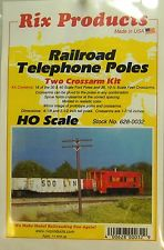 HO Rix Railroad Telephone Poles (Two Crossarms Kit) 628-0032
