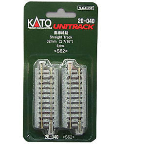 "Kato N Scale 2 7/16"" Straight Track #20-040"