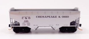 N Micro-Trains Chesapeake & Ohio 33' Twin Bay Hopper Notched #C&O130