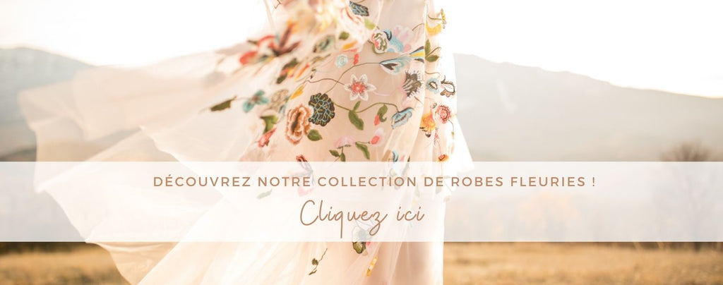 Collection robe fleuries