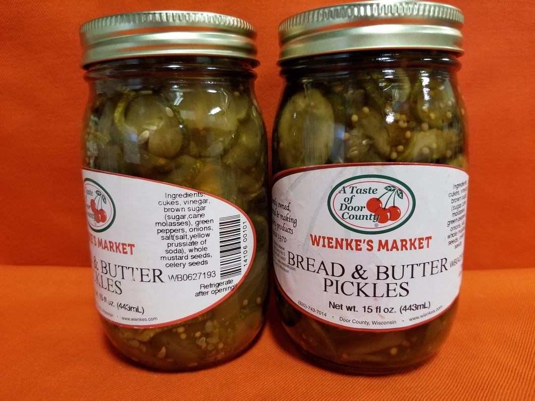 1 pint Bread & Butter Pickles