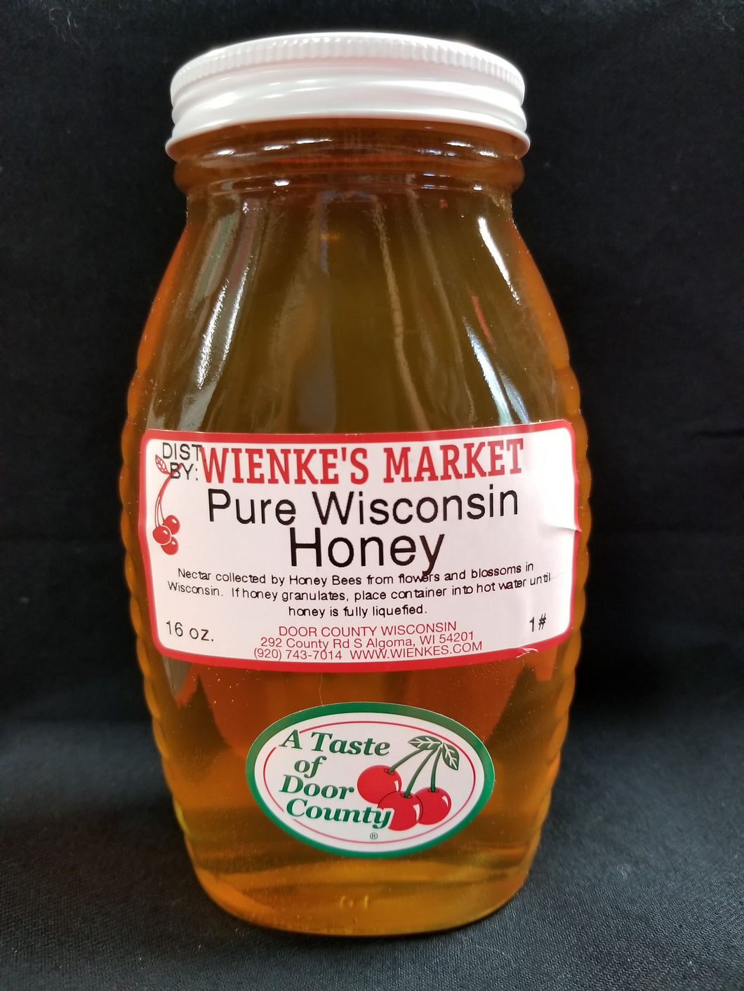 #1 Glass Honey Jar(16.oz)