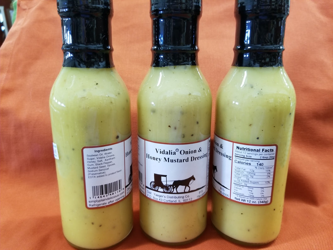 Vidalia Onion & Honey Mustard Salad Dressing
