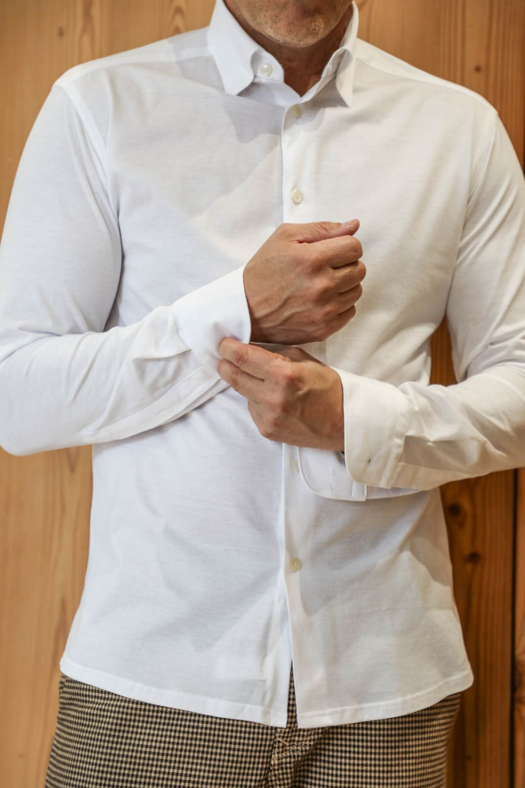 White knitted Jersey Shirt