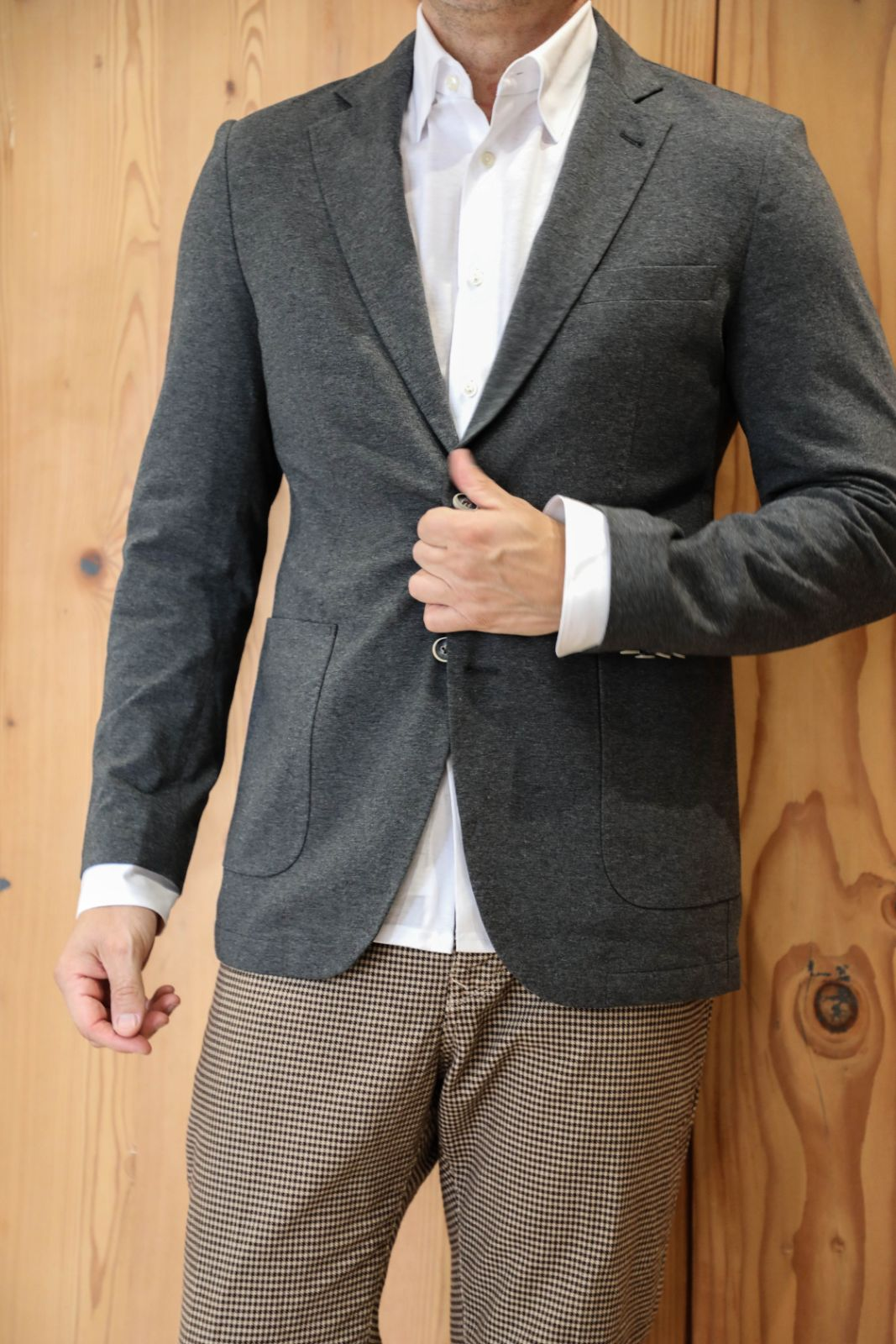 Charcoal 2 Button Jacket