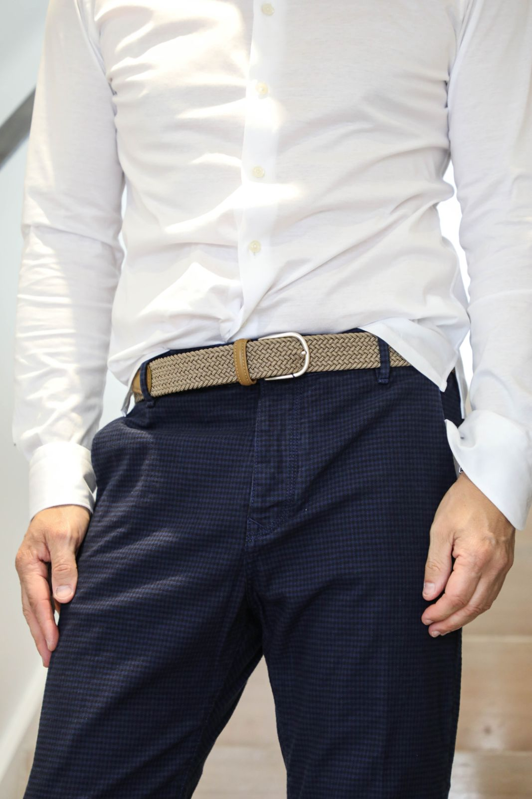 Navy Gingham check Pant