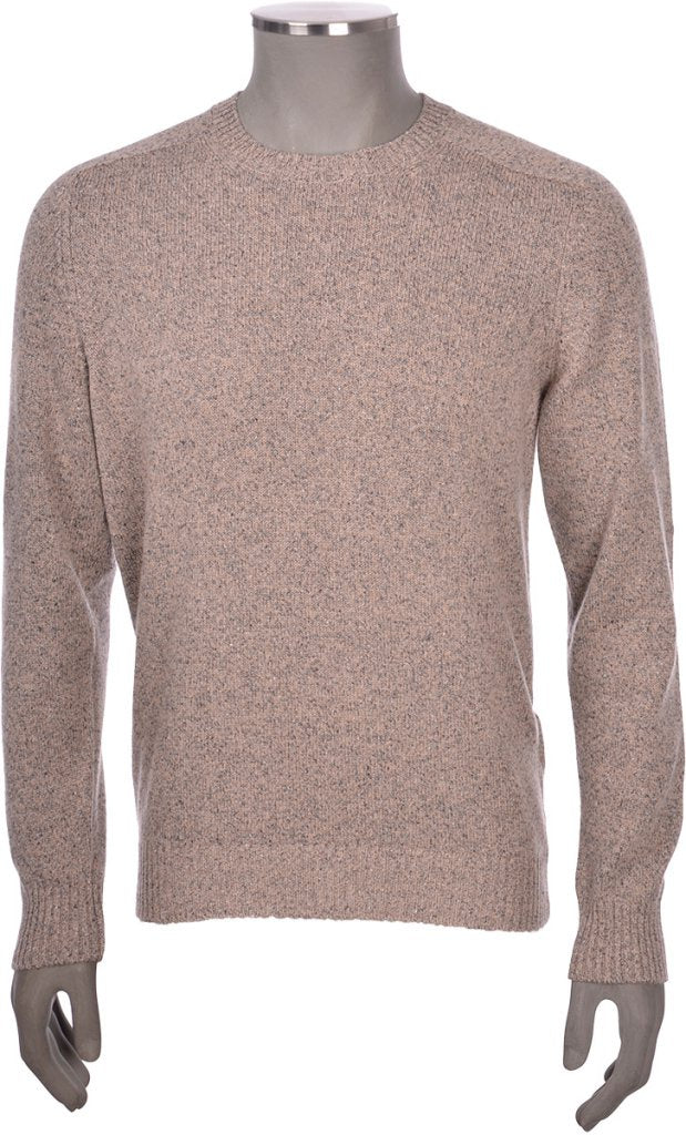 Beige Crew Neck Knit Speckle