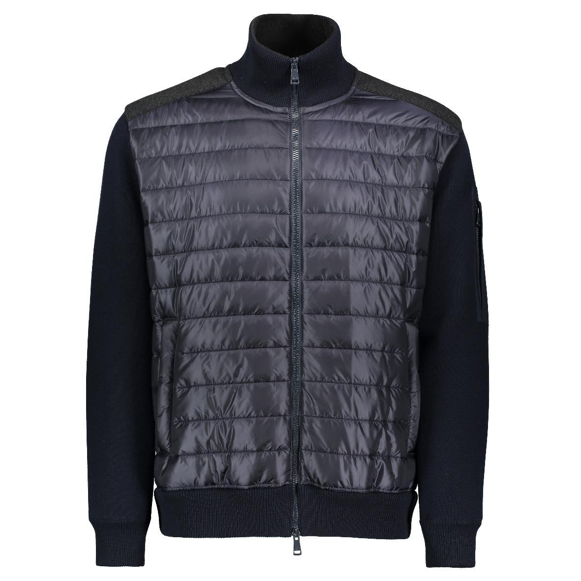 Knitted Blouson Navy