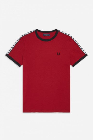 Taped Ringer Tee Rosso
