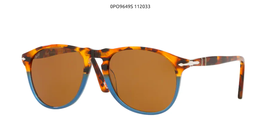 Tear Drop Acetate with yellow/blue/brown