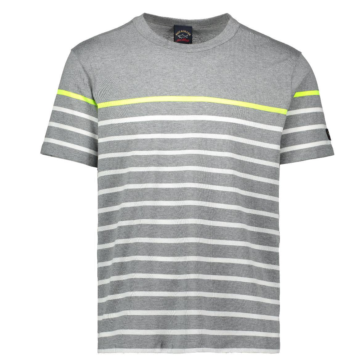 Grey Striped Tee Shirt