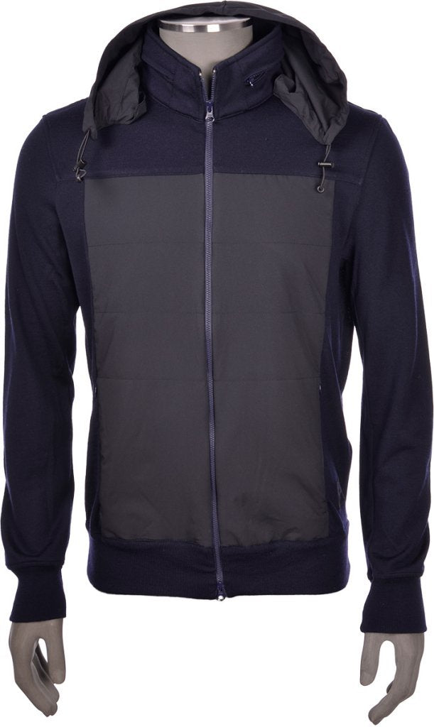 Navy Jacket with Contrast Front
