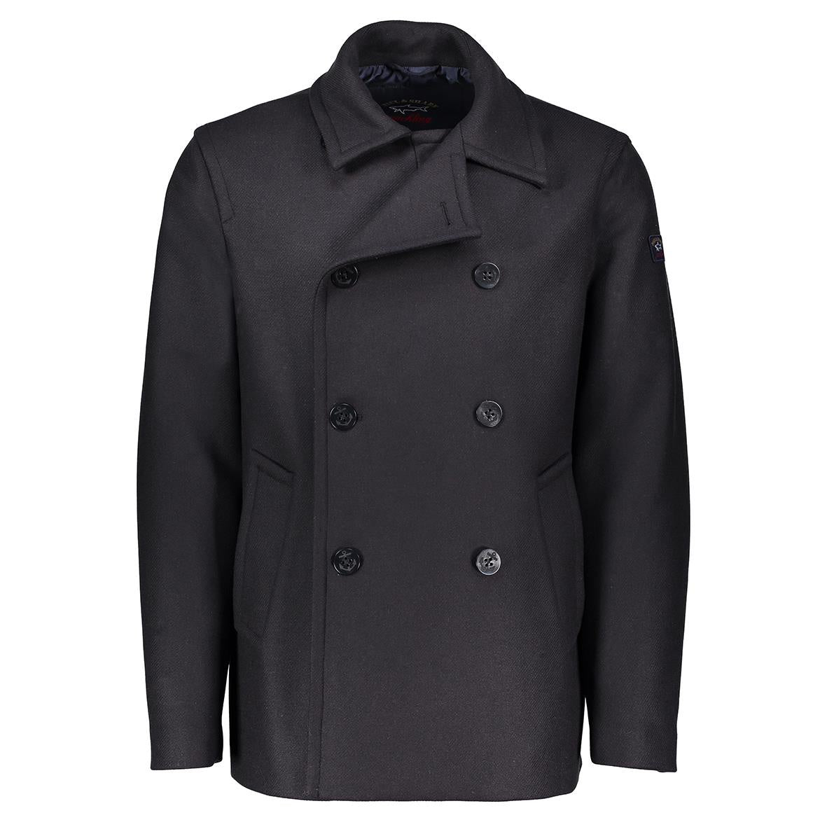 Plain Navy Pea Coat