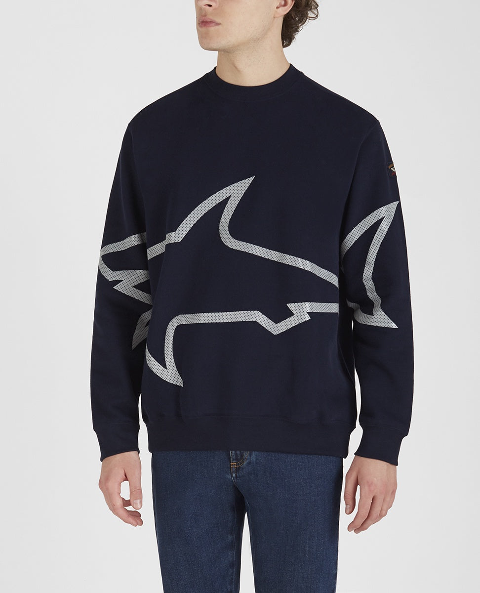 Navy Shark  Logo Windcheater
