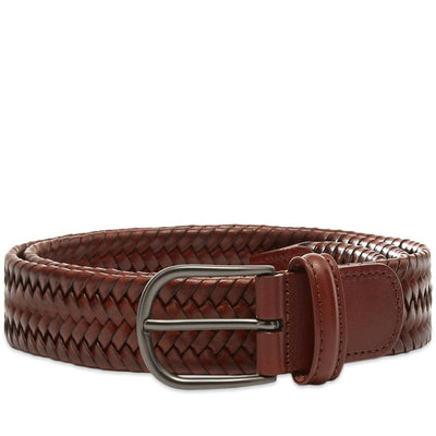 Brown Woven Stretch Belt