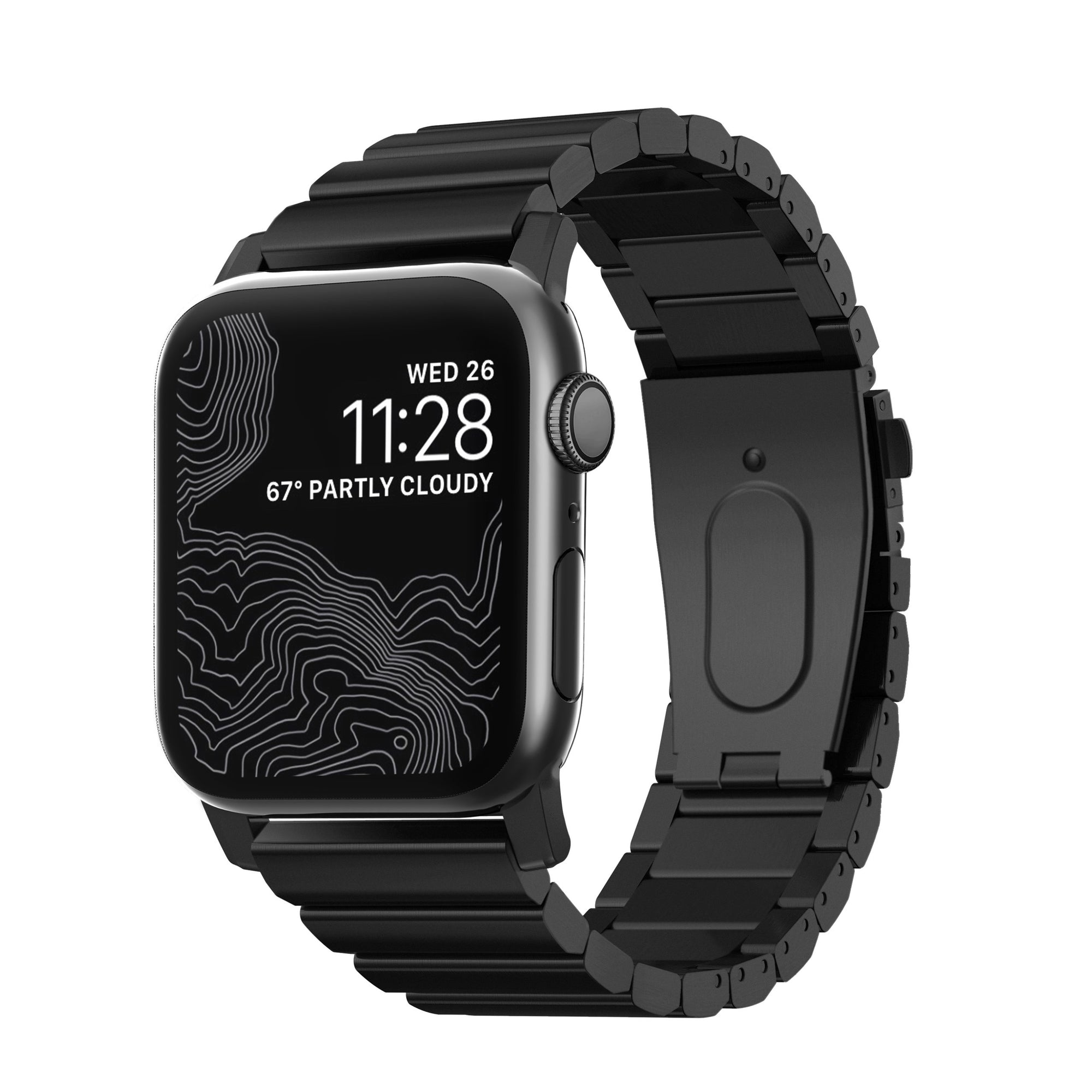 Black Steel Band Apple Watch 42/44mm