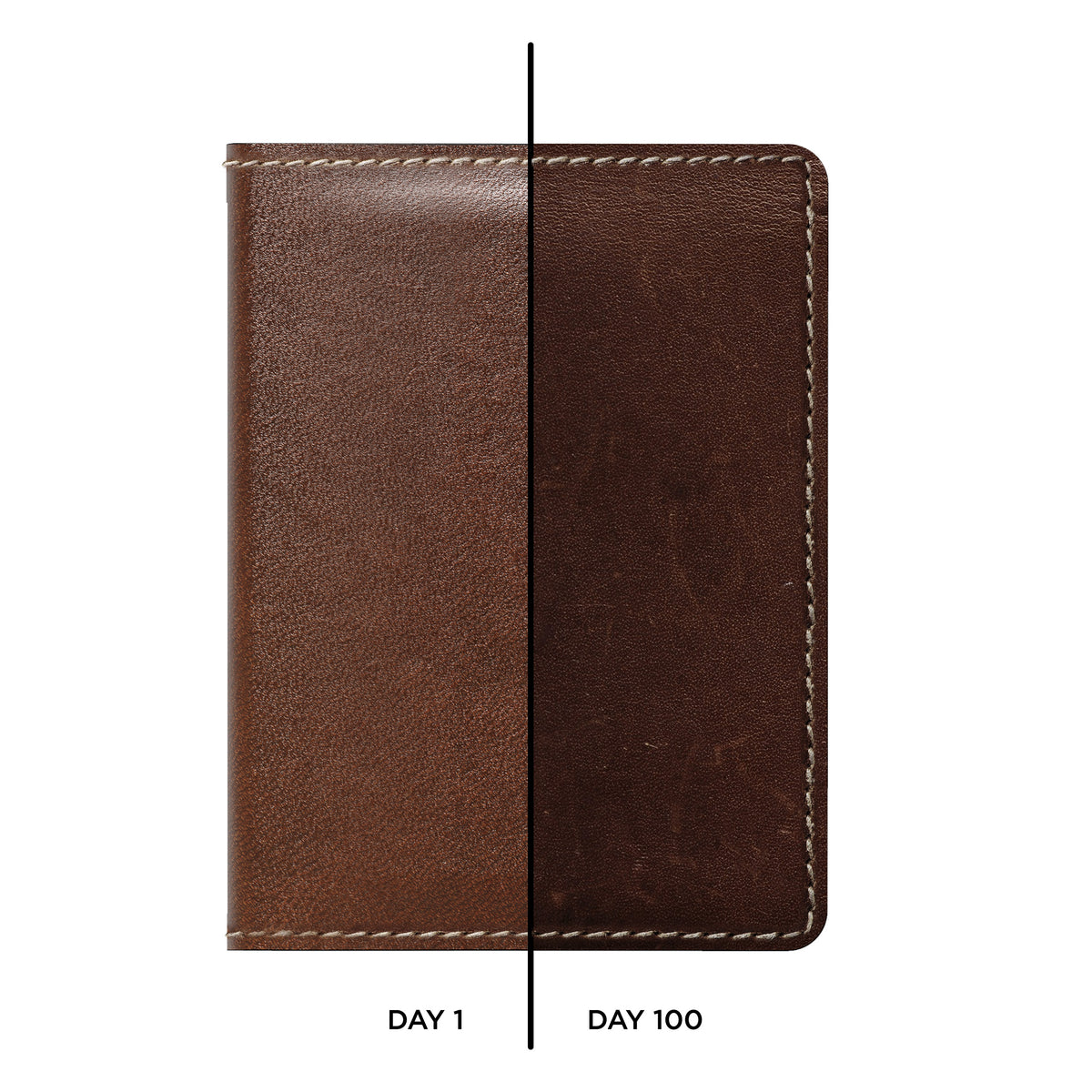 Slim Wallet With Tile Brown