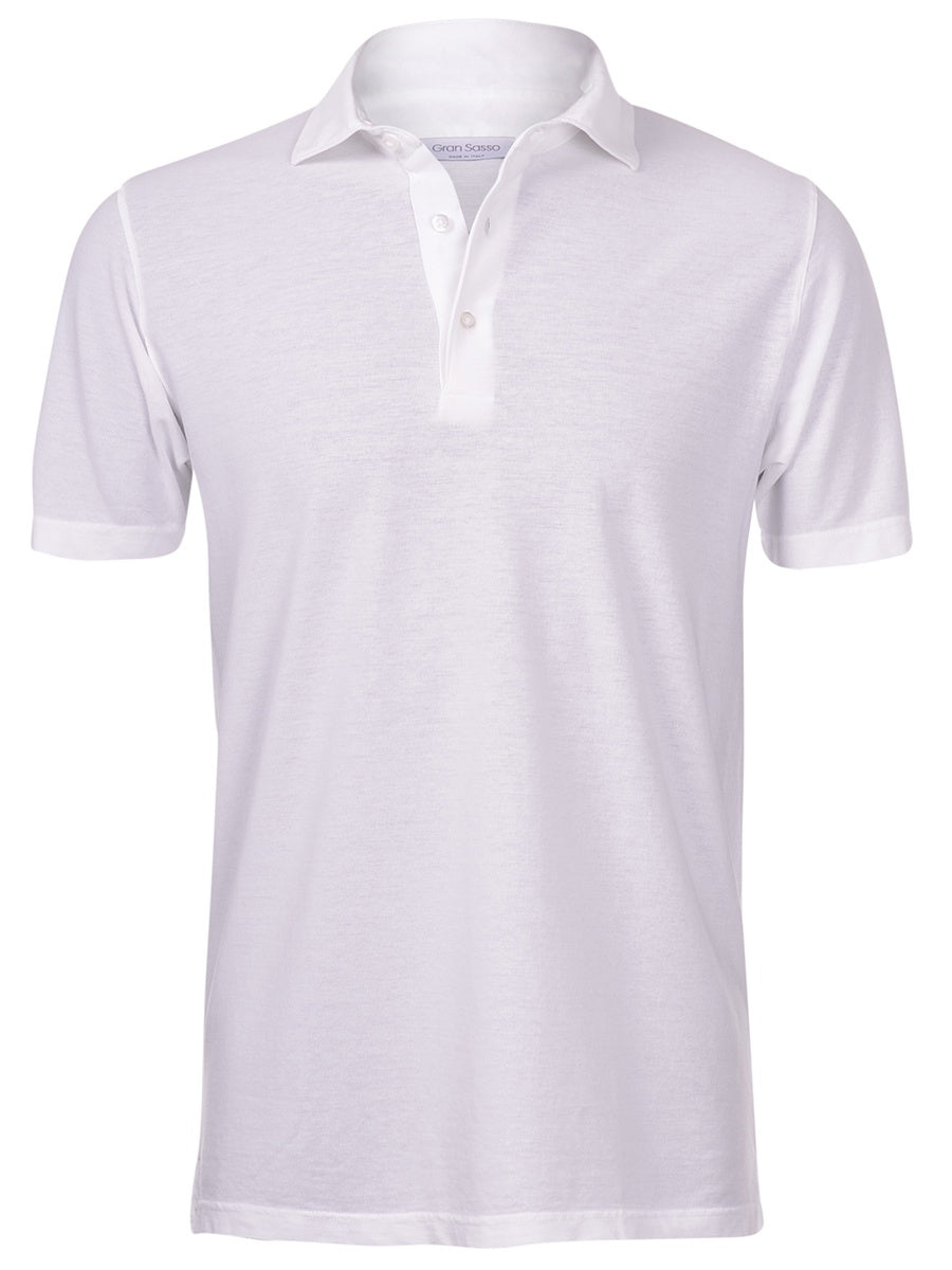 White Polo Mercerised Cotton