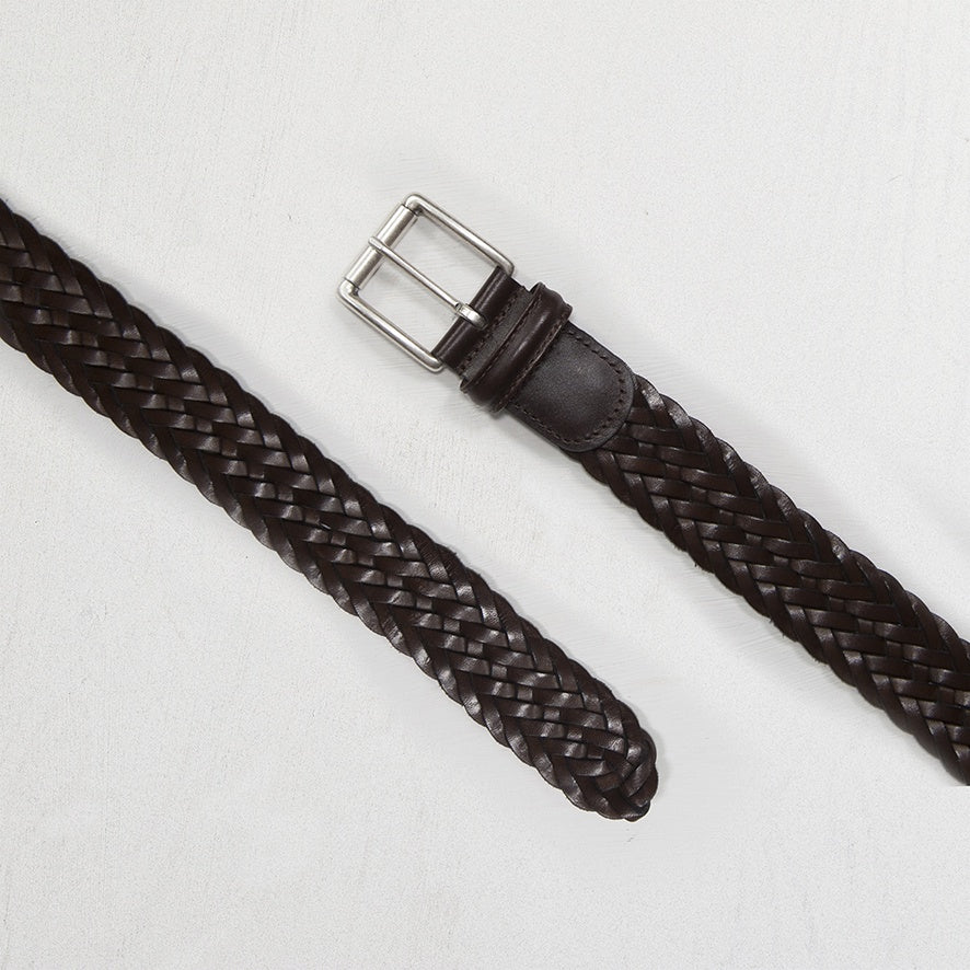 Choclate Brown Woven Belt Leather