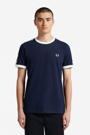 Taped Ringer Tee Navy