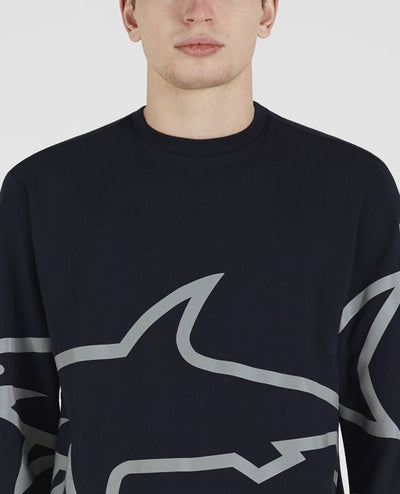 Navy Reflective Shark Crew